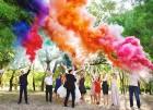 Цветной дым для свадьбы в Алмате